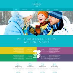 Family Center Responsive Joomla Template