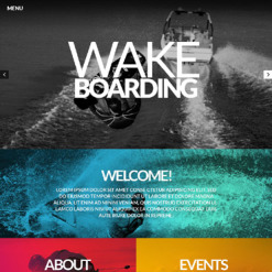 Wakeboarding Responsive Website Template