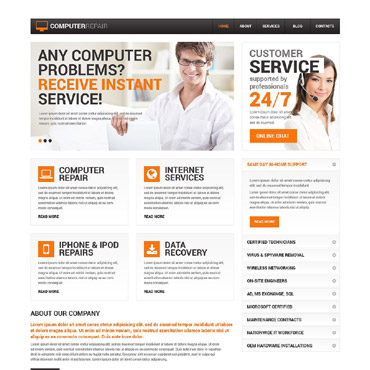 Computer Repair Services Drupal Template #52144