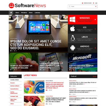 Software Responsive WordPress Theme #52168