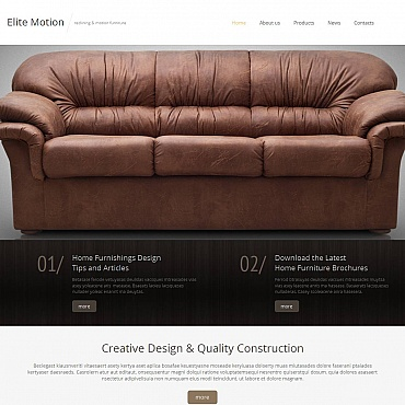 Furniture Moto CMS HTML Template