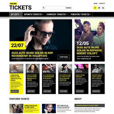 Tickets Website Responsive Website Template