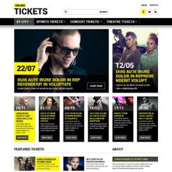 Tickets Website Responsive Website Template