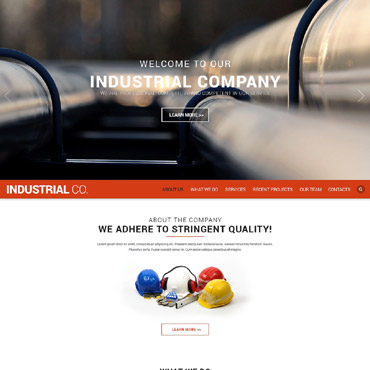 Industrial Responsive Website Template
