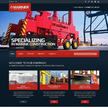 Cement Responsive Website Template #52288