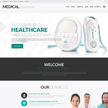 Medical Equipment Responsive WooCommerce Theme