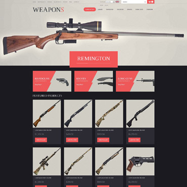 Weapons Store ZenCart Template