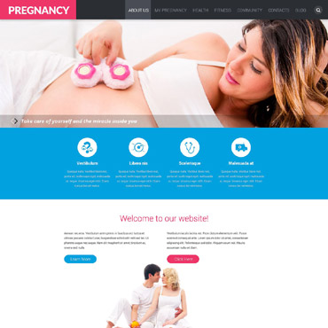 Pregnancy Responsive Website Template