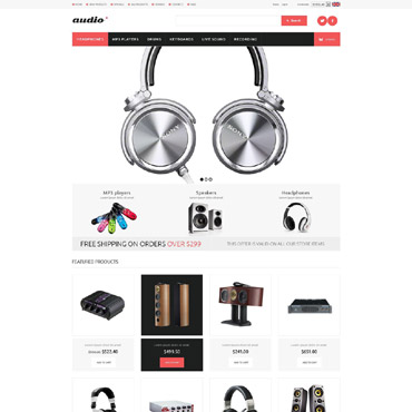 Audio Store ZenCart Template