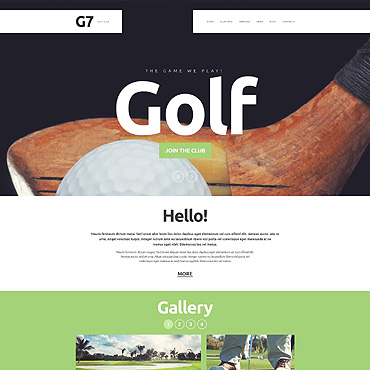 Golf Responsive Website Template