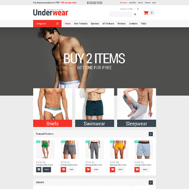 Men's Underwear ZenCart Template