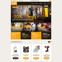 Tools & Equipment Responsive VirtueMart Template