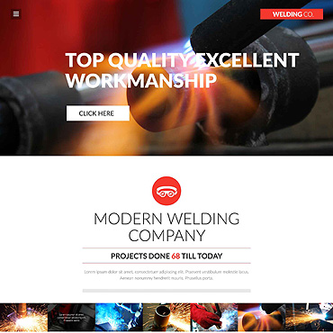 Welding Corp Website Template #52396