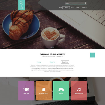 Cafe Responsive Website Template