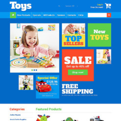 Toy Store ZenCart Template