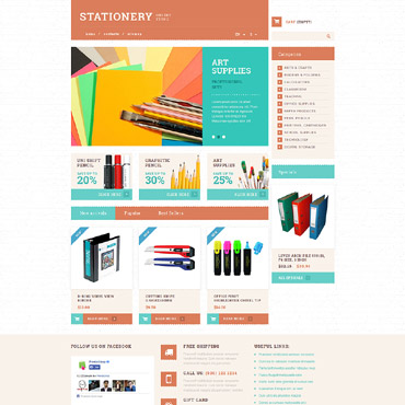 Stationery Responsive PrestaShop Theme