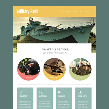 Military Responsive Website Template