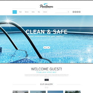 Pool Cleaning Services Joomla Template #52564