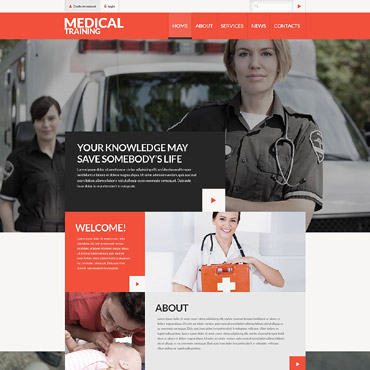 Ambulance Responsive Website Template