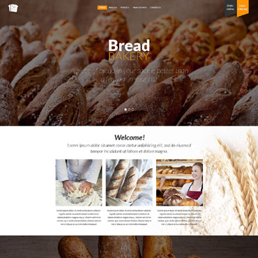 Bakery Responsive Website Template #52572
