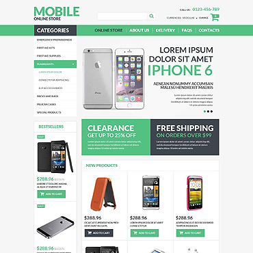 Mobile Electronics VirtueMart Template #52588