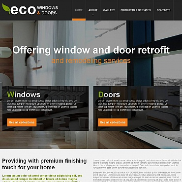 Window Moto CMS HTML Template