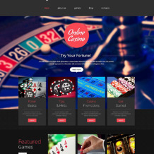 Online Casino Responsive Website Template