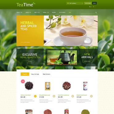 Tea Store PrestaShop Theme #52672