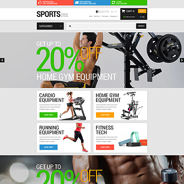 Sports Store Responsive OpenCart Template