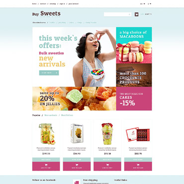 Sweet Shop Responsive PrestaShop Theme