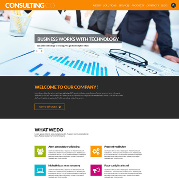 Sophisticated Corporate Image WordPress Theme #52700