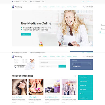 Drug Store Responsive Website Template