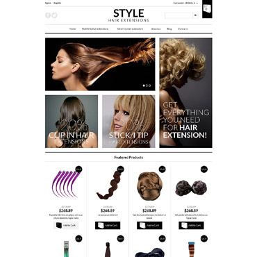 Hair Salon VirtueMart Template