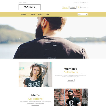 T-shirt Shop Responsive PrestaShop Theme