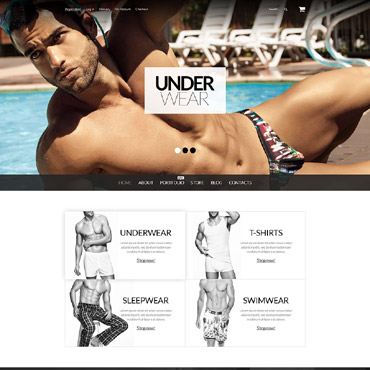 Men's Underwear Responsive WooCommerce Theme