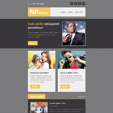News Portal Responsive Newsletter Template