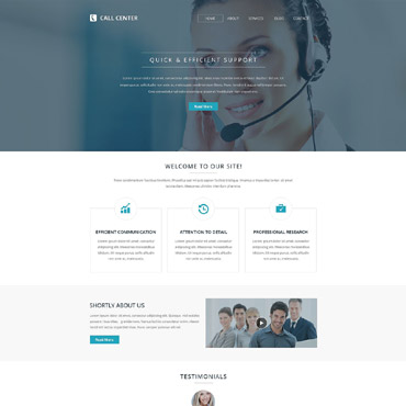 Call Center Responsive Website Template