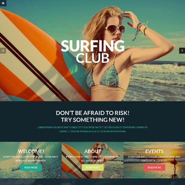 Extreme Sports Club WordPress Theme #52824