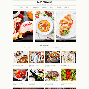 Grocery Shopping Website Template #52840