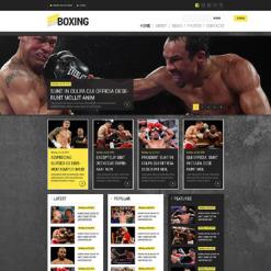 Boxing Responsive Website Template