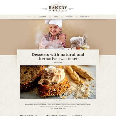 Bakery Responsive Website Template