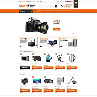 Electronics Store OsCommerce Template