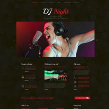 DJ Responsive Website Template