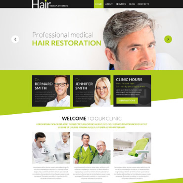 Hair Transplantation WordPress Theme #53016