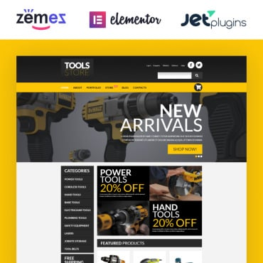 Tools & Equipment Responsive WooCommerce Theme