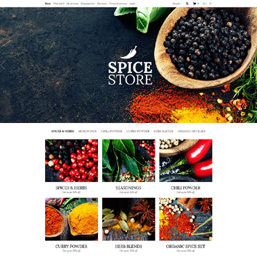 Spice Food Shop OpenCart Template #53040