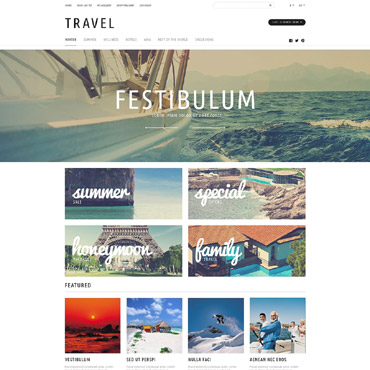 Travel Tours Store OpenCart Template #53084