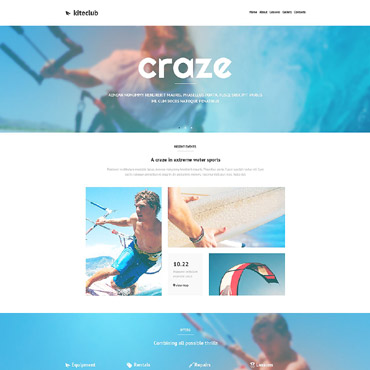 Kitesurfing Responsive Website Template