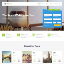 Private Airline Responsive Website Template