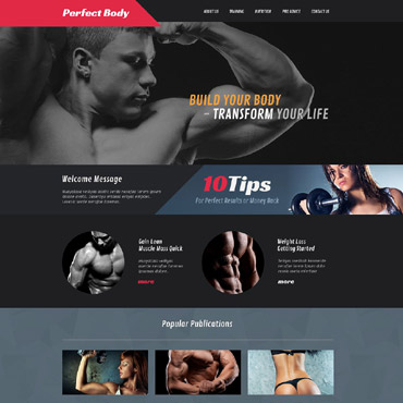 Bodybuilding Responsive Website Template